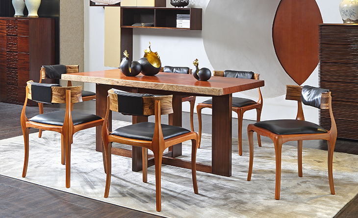 Natural dining table & chair